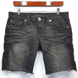 Big Star Liv Cutoff Black Denim Shorts